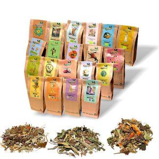 Ceaiuri BIO compuse - amestecuri pe afecţiuni - 50 g plante pentru 7 zile